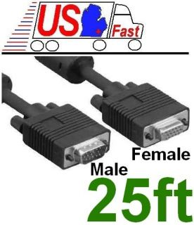 25ft long SVGA VGA Male Female Extension Monitor Video HDTV Cable Cord