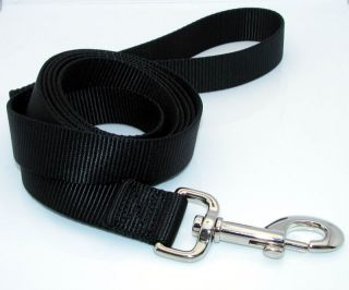 New 6 ft Long Black Nylon Dog Pet Leash Lead