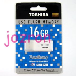 Toshiba Hayabusa 16GB 16g USB Flash Drive Disk White