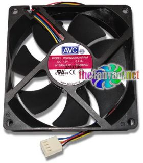 AVC DS09225R12H 92mm x 25mm Hydraulic Bearing 4 Pin Fan