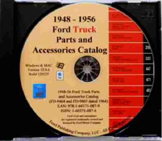 1948 1956 FORD TRUCK PICKUP PARTS & ACCESSORIES CATALOG CD F100 F250
