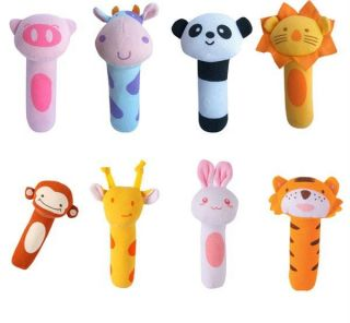 Ysbd Baby Pram Crib Toy Activity Soft Toy Rattles 15 x 5cm 8 Styles