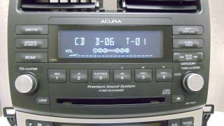 05 06 07 08 Acura TSX Radio Stereo 6 Disc Changer CD Player 7HP0