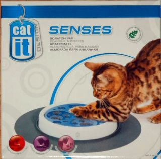 Scratch Pad Catnip cat toy accessory or stand alone w tube ball set