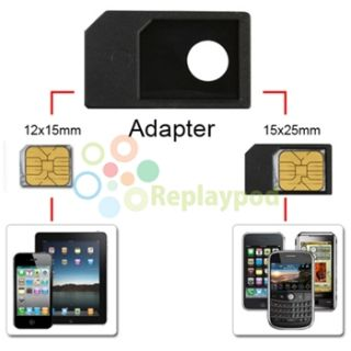 Micro Sim Card 10 Adapter for Apple Verizon ATT iPhone 4 4G 4S HD iPad