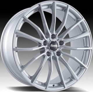 17x7 Advanti Racing Lupo 5x100 45 Silver Rims Wheels
