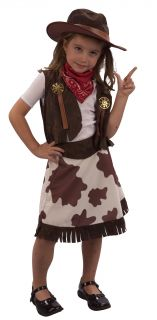 Kids Girls Toddler Cowgirl Fancy Dress Costume Age 3 Yr