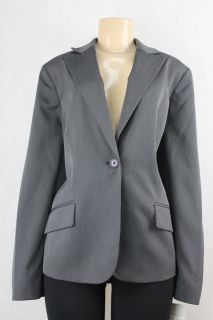 AK Anne Klein Women Blazer Jacket Charcoal Gray Size 22W