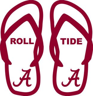 Alabama Crimson Tide football Flip flop Car truck Window Vinyl Decal