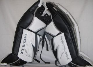 RX5 Size 28 Black White Silver Ice Hockey Goalie Leg Pads