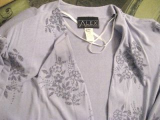 Alex Evenings Womens Plus Size Evening Jacket Stretch Lavender Beaded