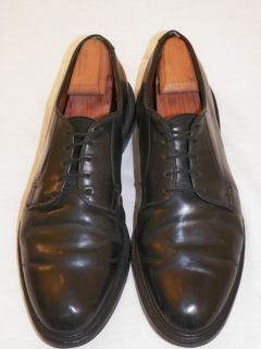 Allen Edmonds Leeds (9501) Black Shell Cordovan Bluchers 11.5 C 1 Last
