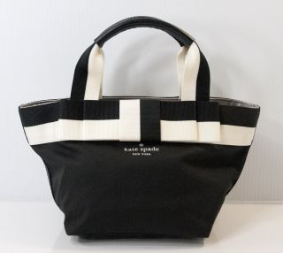 New Kate Spade Barrow Street Mini Anabel Black Cream Satchel Bag Purse