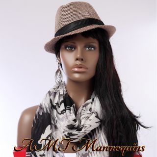 Female Mannequin Head African Manikin Display Wig Hats Scarves Jewelry