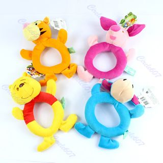 1pcs Baby Disney Animal Model Catoon Hand Bell Ring Rattles Kid Plush