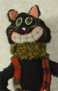 Hannas Handiwork Long Lanky Plush Halloween Black Cat