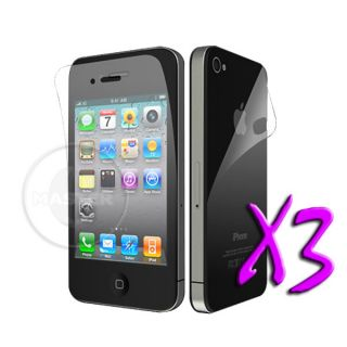 3X Invisible Protection Anti Glare Screen Protector for iPhone 4 4S