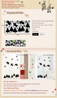 GWST 004 Christmas Tree Angel Wall Window Deco Removable Sticker Decor