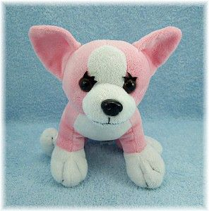 2010 Animal Adventure Pink Chihuahua 10 Dog Washed Stuffed Plush Soft