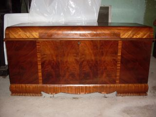 Vintage Art Deco Waterfall Lane Cedar Hope Chest 1940S