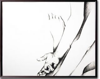 Paper Drawing Hands Feet Love Modern Contemporary Antoine Art