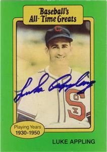 Luke Appling Chicago White Sox Autographed Trading Card