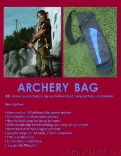 New Archery Black Quiver Hunting Lite Weight Carry Walking Arrow Light