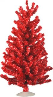 Rtro 12 inch Red Mini Artificial Christmas Tree