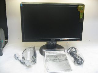 Asus VH 197D 19 Widescreen LED LCD Monitor Black