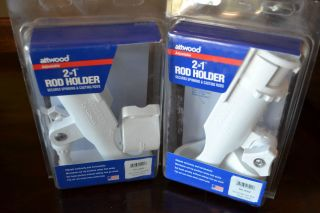 Attwood Fishing Rod Holder and Mounting Base 2 in 1 RH 40W Two NEW IN