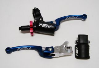 ASV Blue C6 Brake Pro Clutch Levers Kit Yamaha YFZ450 YFZ 450 07 08 09