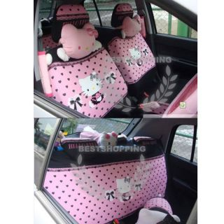 Hello Kitty Lace Car Seat Cover Set Pink Girls Favorite