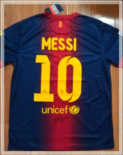 LIONEL MESSI FC BARCELONA SIGNED AUTOGRAPHED JERSEY WITH COA