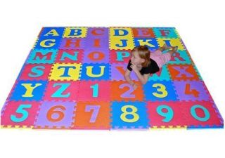 Safety Mat Learning Letter Alphabet Number Playmats Gym Decor Baby