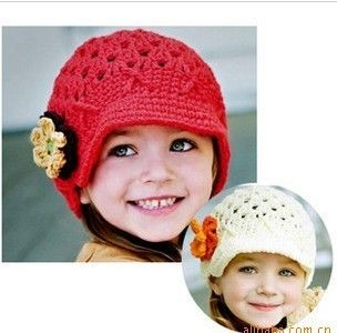 Lovely Newborn Baby Child Girl Boy Flower Hat Beanie Cap Gifts