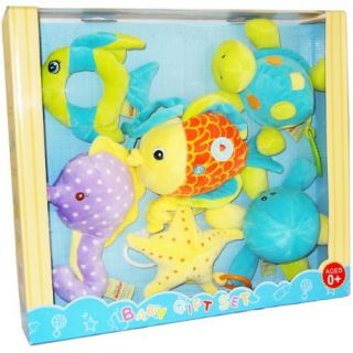 Hugfun International Plush Baby Toy Gift Set 6 Pieces Fish