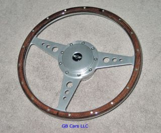 Austin Mini Cooper 14 Wood Alloy Steering Wheel
