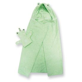 New Beautiful Baby Green Frog Bath Towel Set Gift