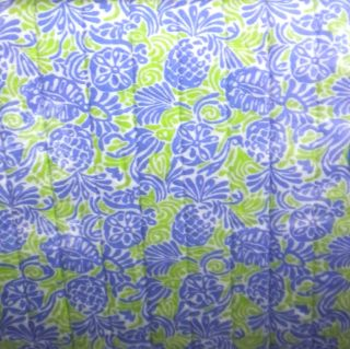 TOMMY BAHAMA COVE PINEAPPLE LIME BLUE FULL QUEEN QUILT NEW WHITE