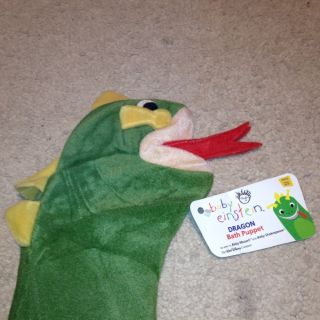 Baby Einstein Bard The Dragon Plush Hand Puppet 11 5