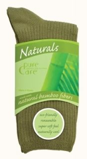 Purecare® Natural Socks Bamboo Crew 3 Pair Pack