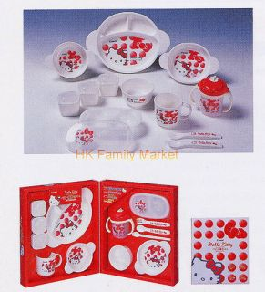 Japanese Combi Baby Hello Kitty Tableware Set for Gift