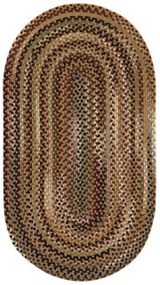 Capel Rugs Wool Oval Bangor Braided Area Throw Rug Sandy Beige 700