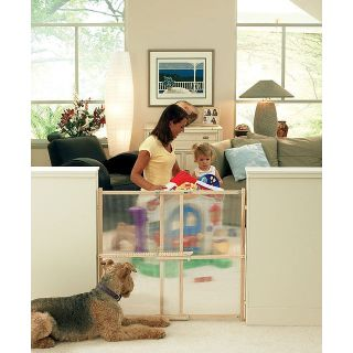 North States Clear View XT Pet Gate Baby Wood Safety