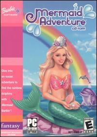 Barbie Mermaid Adventure PC Mac CD Girls Underwater Sea Fantasy