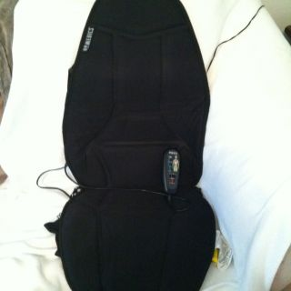 HOMEDICS TOTAL BACK COVERAGE MASSAGER CUSHION W OPTIONAL HEAT EUC