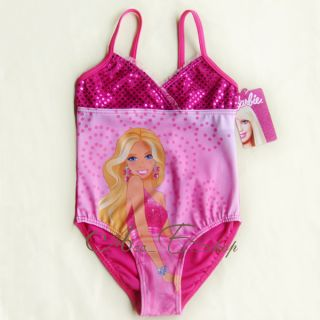 Girl Kids Barbie Princess 2 7Y Swimsuit Swimwear Swimming Costume