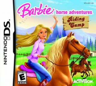 barbie horse adventures riding camp nintendo ds dsi xl game play as