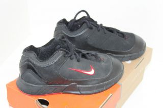 Nike Basketball Kids Shoes Double Figure Low Black Youth Sz 6