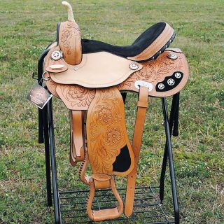 C203 Hilason Western Flex Tree Barrel Racing Trail Saddle 14